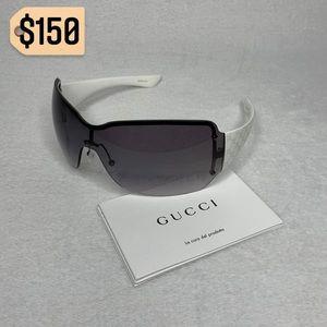 Gucci Rimless Shield Purple/White Sunglasses Rare